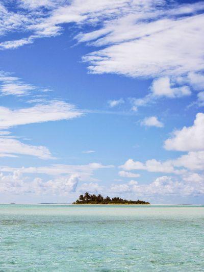 Rapota island, Aitutaki, Cook Islands Desert Island Luxury Holiday Tropical Paradise Atoll Atol Island Coral Azure Water EyeEmNewHere Blue Sky Water Sea Tree Palm Tree Beach Blue Sand Scuba Diving Tropical Climate Relaxation