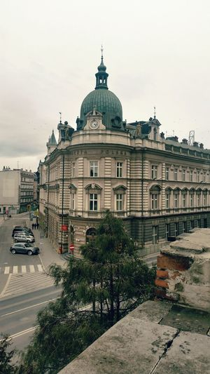 Postal Architecture Dome City Building Exterior Government Built Structure Sky No People EyeEm Best Shots Eeyemphotos Atmosphreric CityWalk Eeyemgallery Week Of Eyeem History Citycenter Postal Day Poland Street Poland 💗 Atmospheric Scene Street Art EyeEm Best Shots - Architecture EyeEm Best Shots - The Streets