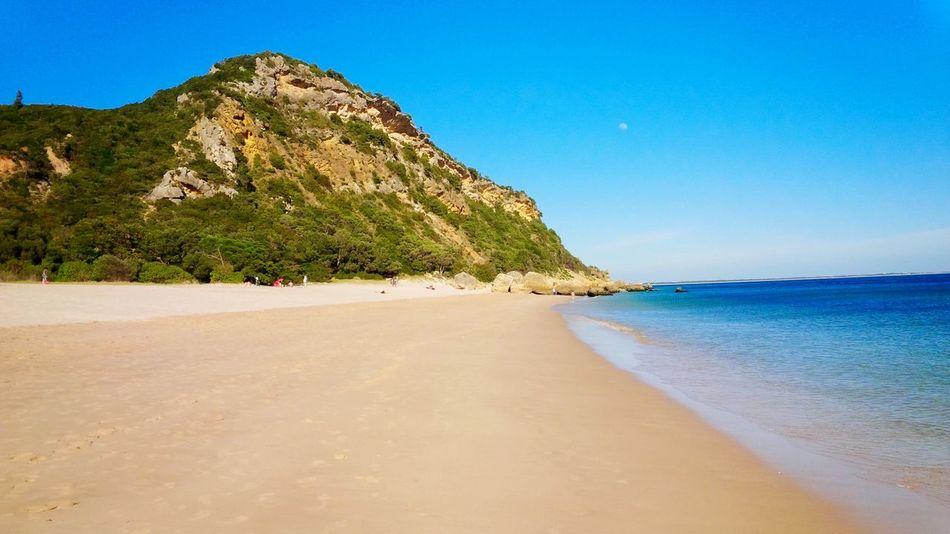 Enjoying The Sun Portugal Nature EyeEm Portugal Beach Enjoying Life Summertime Sea Blue Sky Sunny Day