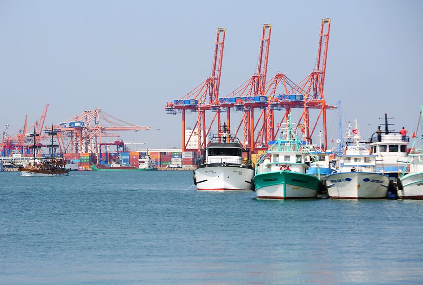 Mersin port Transportation Nautical Vessel Water Mode Of Transportation Crane - Construction Machinery Sky Industry Freight Transportation Machinery Shipping  Waterfront Architecture Harbor Clear Sky Nature Pier Commercial Dock Development Sea No People