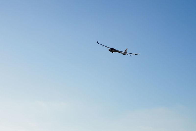 Blue Sky Clear Sky Clouds And Sky Fly Fly Away Flying Glider Gliding Plane Sky Gliding