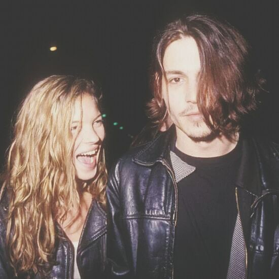 love love love Kate Moss Years Ago Couple Johnny Depp