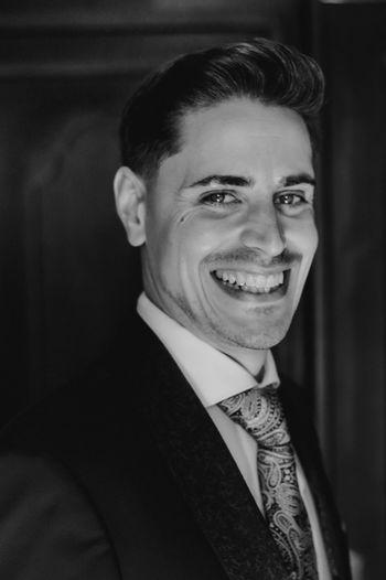 Portrait of smiling groom
