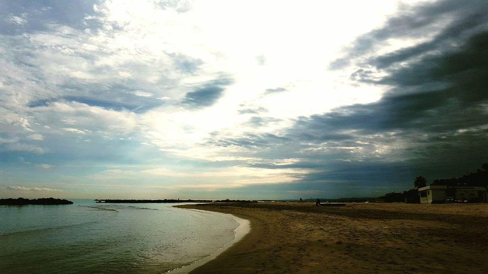 Eyeemphotography Colorphotography Reflection Hello World Clear Sky Beauty In Nature Contemplation Sky Abruzzo - Italy Cloud - Sky Pescara Beach Horizon Over Water Buongiorno Goodmorning EyeEm  Good Morning World! First Eyeem Photo