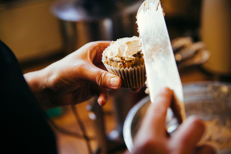 Baking Close-up Cupcake Cupcakes Food Food And Drink Holding Human Hand Icing Indoors  One Person The Week On EyeEm