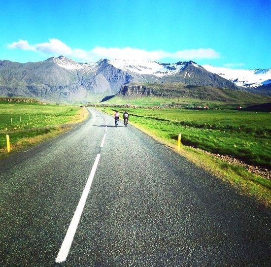Biking around Iceland in epic natural landscapr Biking Iceland Nature Glacier Biggestglacierineurope
