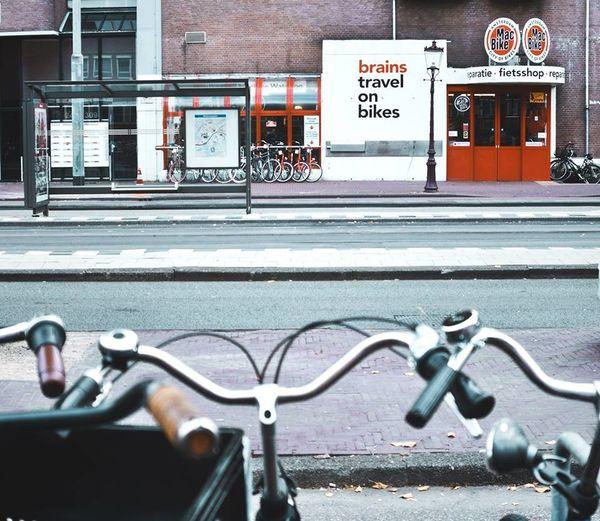 Amsterdamcity Be Green🍃 BrainstravelOnBikes Mood Outdoors Thinksmartworksmart Way Way Of Life First Eyeem Photo
