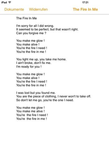Do you find any mistakes ?? Tell me if you find some :) Lyrics Songtext It's My Own i wrote this song Song Music Text Jacob Rose Proud Singer  Songwriter what do you think ? I wrote this song about a really important person in my life. This song is my first writing I share so pleas help me :)