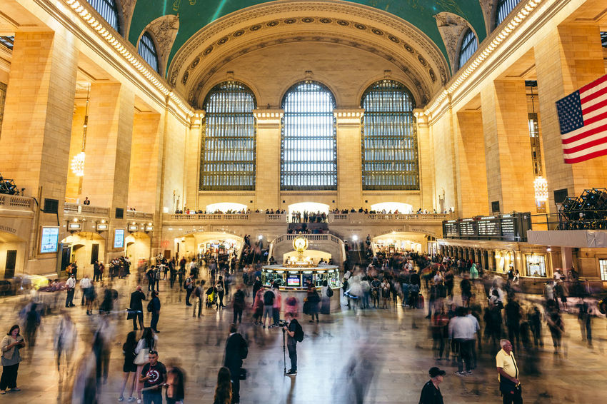 Usa Trip 2017 Last Summer Let's Go Explore New York New York City City Life Cityscape Travel Photography Destinations Architecture Illuminated Central Station Built Structure City Station Train Station Modern Life Motion Capture Motion Blur Group Of People Blurred Motion Walking Travel Destinations Motion Crowd
