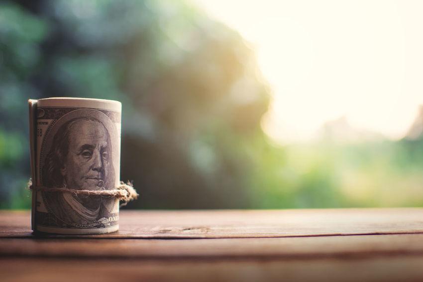 Business Close-up Money Still Life Sunlight Table