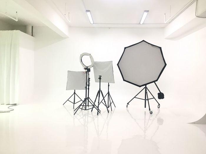 Low angle view of lighting equipment