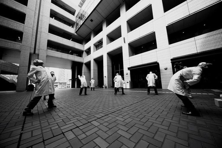 """""""Movement to Promote the Cleanup of the Oita city Area"""" Art ArtPerformance Performance"""