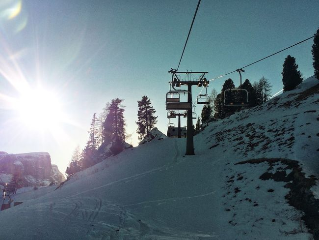 No People Italy Snow Winter Sun Slope Snowboarding