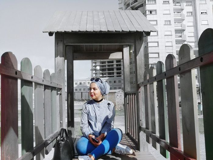 Sitting Front View One Person Day Portrait Beautiful Woman Hijabstyle  Lovely Girl Hijabbeauty Beautiful Girl Hijabfashion Hijabista Women Lifestyles Real People Jeans Close-up Beauty One Young Woman Only Only Women Smiling Beautiful People Hijab
