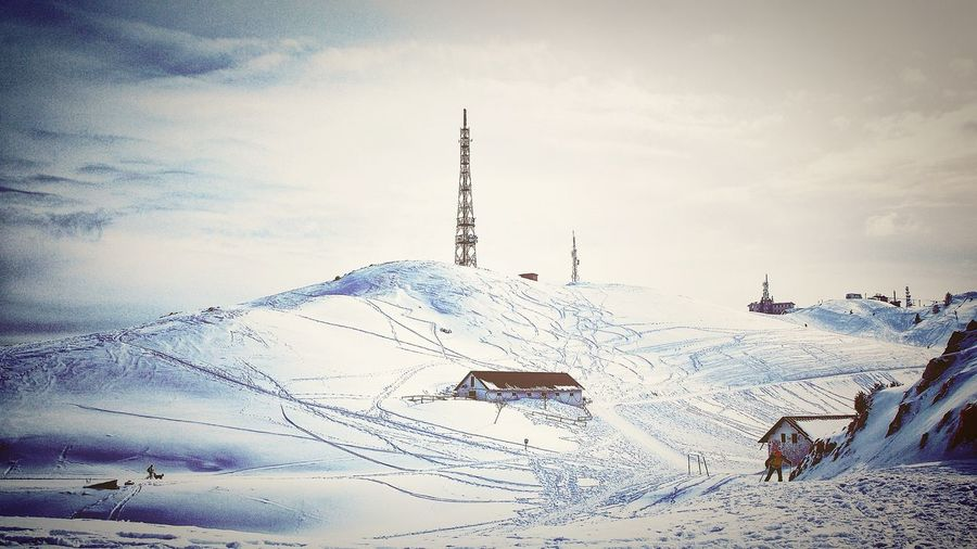 Lovely Winter Snow Iceland Ice White Cold Temperature Skiing Radar Radar Tower House Building Exterior Sky