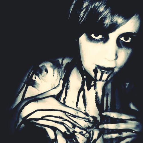 Vampire BLOODY Dripping Masochist Scary Thirsty