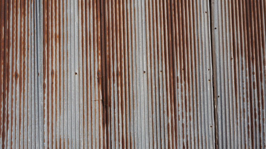 Textured  Pattern Full Frame Backgrounds Corrugated Iron Wood - Material Metal Iron No People Striped Close-up Brown Rusty Day Wall - Building Feature Corrugated Architecture Repetition Silver Colored Old Textured Effect Sheet Metal Built Structure Abstract Wood Grain