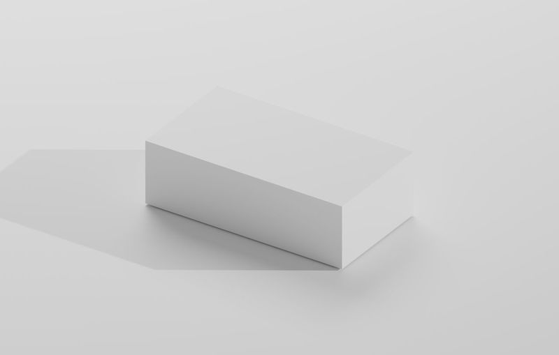 High angle view of empty white background
