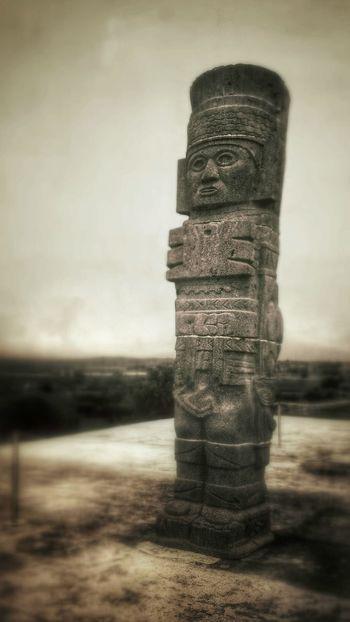 Azteca Aztecs God Statue Stone Art