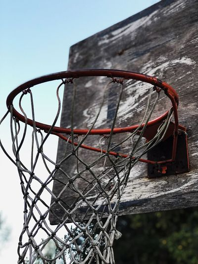 Every dream has to start somewhere. Believe Hope Success Dreams Basketball Hoop Basketball - Sport No People Nature Sky Net - Sports Equipment Low Angle View Sport Outdoors