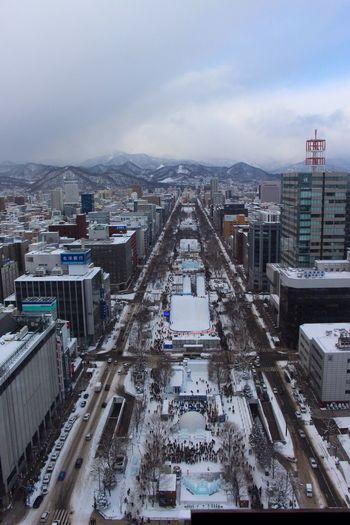 Boulevard TV Tower Enjoying Life at Sapporo