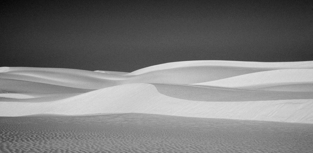 Scenic View Of Sand Dune In Desert Against Sky