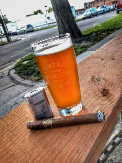 Beautiful evening! Craftbeer Cigars