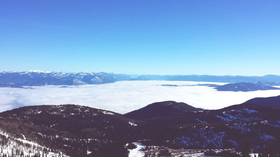 Lake of clouds Relaxing Sandpoint Adventure Club Snowboarding