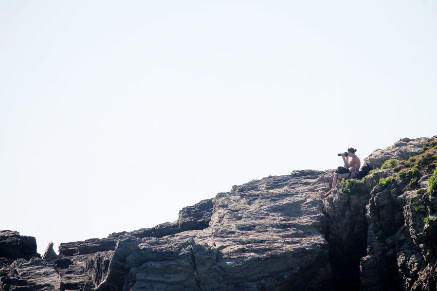 Adventure Capturing The Moment Caught In The Moment Climbing Day Nature One Person Photography Themes Rock - Object Sky
