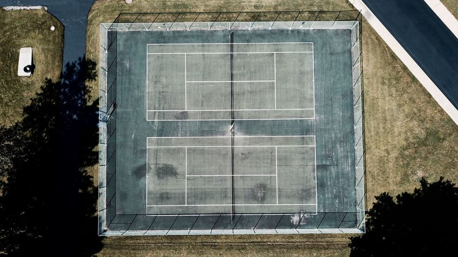 -Match Point- Tenniscourt Outdoors Simplicity Minimalism Drone  Droneshot Mavic Pro The Week On EyeEm Clean Overhead Birdseyeview EyeEm Best Shots High Angle View Playing Field