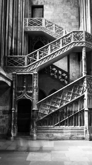 Do you see the ghost? Kris Demey Photography Blackandwhite Architecture Built Structure Building Building Exterior No People Bridge Connection Bridge - Man Made Structure Railing Low Angle View The Past Outdoors Travel Destinations City Day History Staircase Old