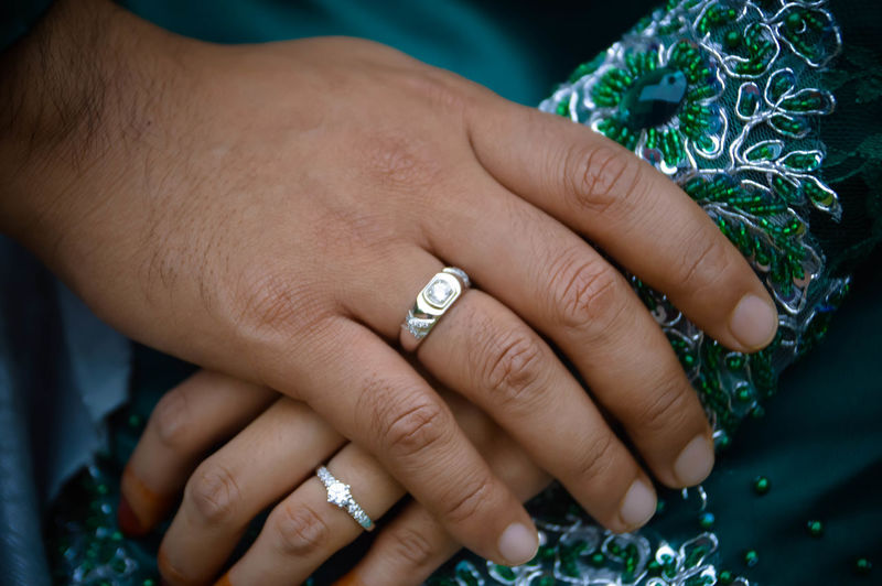 Close-up Cropped Day Detail Focus On Foreground Human Finger Leisure Activity Lifestyles Part Of Person Ring Selective Focus Showing Touching Unrecognizable Person