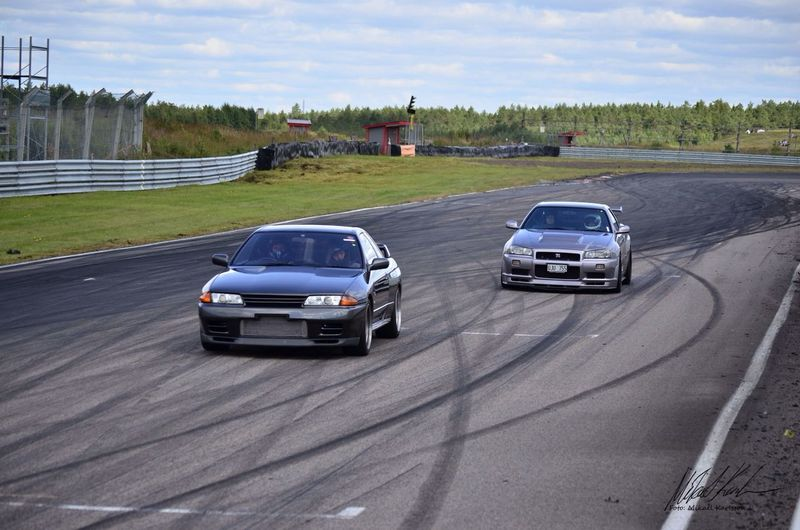 A pair of Skyline at Anderstorp Raceway