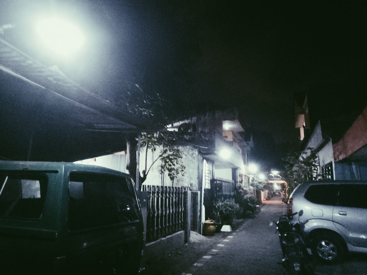 car, night, illuminated, transportation, land vehicle, mode of transport, stationary, no people, outdoors, architecture