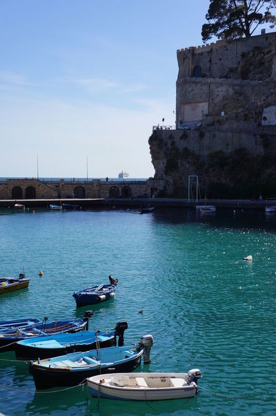 Architecture Blue Day Italy Moored Nature Nautical Vessel No People Outdoors Water