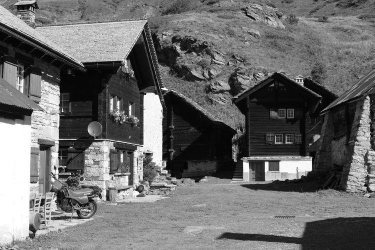 Street amidst buildings in village
