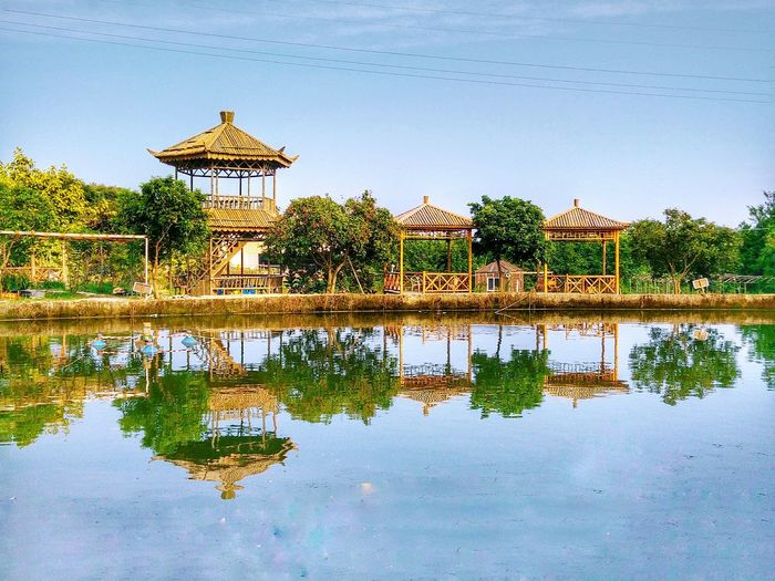 Water Architecture Built Structure Reflection Waterfront Clear Sky Nature Hi! Taking Photos EyeEm Water Reflections