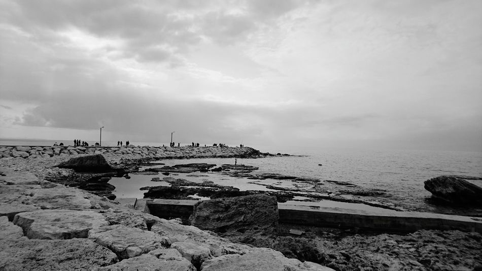 Beirut Horizon Over Water Beach Byblos,Lebanon