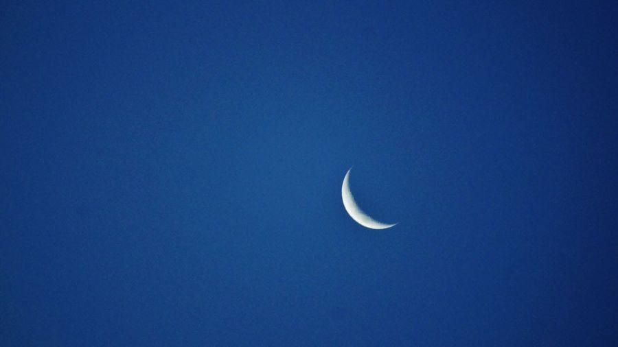 Moon Blue Sky Skyporn Clear Sky Blue