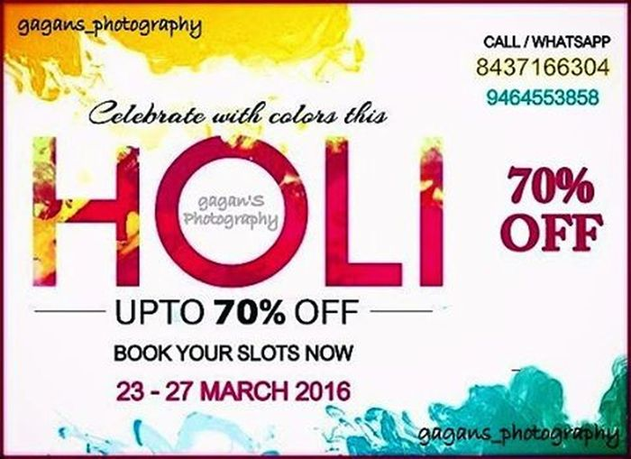 Holioffers Gagans_photography Book your shoots now.. 23-27 March 2016 Instachandigarh InstaDelhi Instagram Instapunjab
