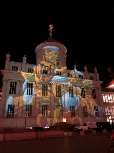 Potsdamer Lichtspektakel Altes Rathaus Alter Markt, Potsdam, Germany Alter Markt IPhone X IPhone X Photography Building Exterior Architecture Built Structure Night Illuminated Sky Religion Building Low Angle View Belief Travel Destinations Spirituality Place Of Worship Decoration No People Travel Tourism Art And Craft Christmas Nature