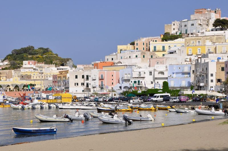 Architecture Built Structure Coastline Feel The Journey Fishing Boat Fishing Boat Harbour Island Isola Di Ponza  Ocean Pictures Picturesque Village Seascape Tourism Tranquil Scene Travel Destinations Water My Favorite Place