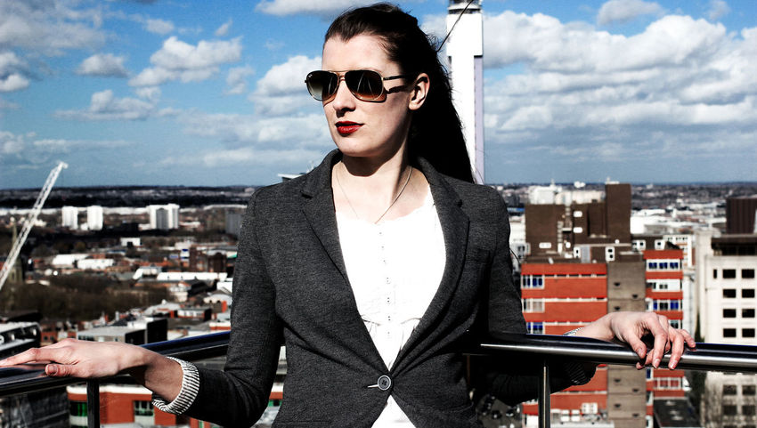 Jamie on the roof in Spring 2015 Beautiful Woman Birmingham Birmingham Library Businesswoman Casual Clothing City England Fashion Portrait Powerful Woman Rooftop Rooftop View  Sky Standing Sunglasses Vibrantlife West Midlands Woman Who Inspire You Young Adult Birmingham City Centre Birmingham UK Stories From The City Adventures In The City The Portraitist - 2018 EyeEm Awards