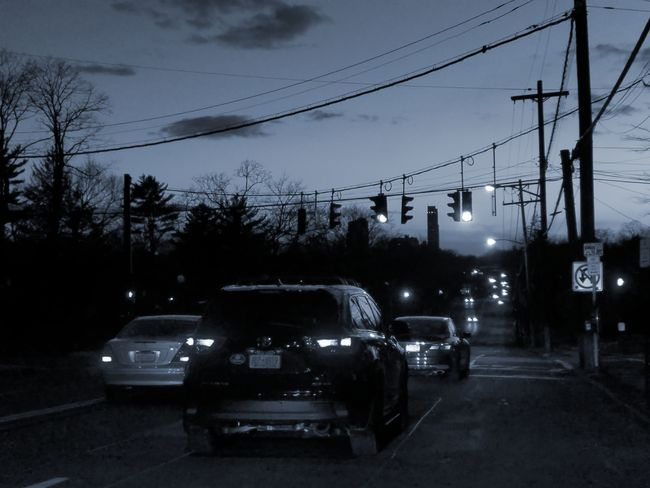 Just cruising around. No, I was not on my phone while driving, I was parked on the curb. Photo taken on Boston Post Road, Larchmont (3/24/2018) Tree Land Vehicle Car Cable Sky Street Light Power Line