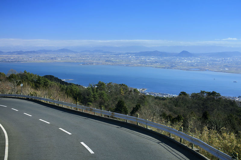 landscape japan kyoto biwako hieizan Transportation Road Sky Nature No People Plant Marking Road Marking Mountain Day Sign Car Direction Mode Of Transportation Tree Motor Vehicle Symbol Beauty In Nature The Way Forward Scenics - Nature Outdoors