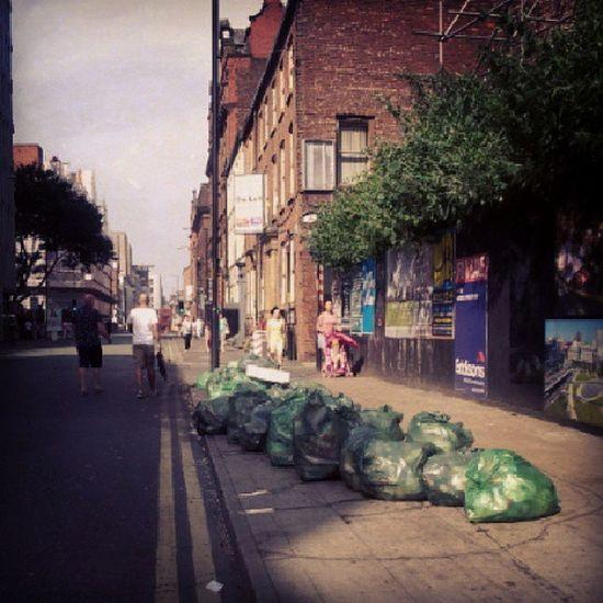 In LeverStreet , next parallel, bins taken away from near fire Manchester Blaze Paulshairworld fire OldhamStreet