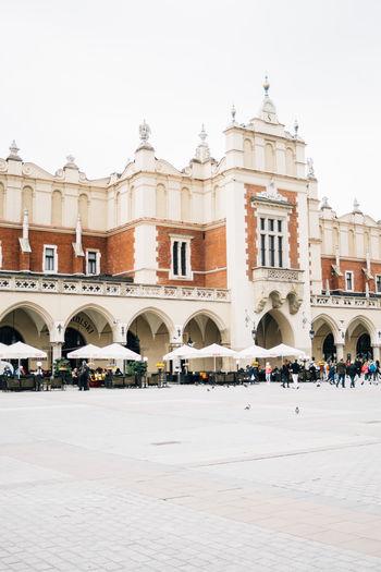 Architecture Cloth Hall Cracow Krakow Market Square Poland Sukiennice Town Square Travel