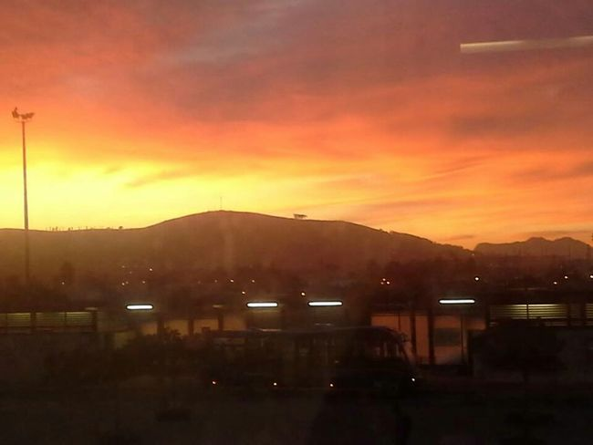 Cape Town Cityscapes Red Sky Morning South Africa Rise And Shine Sunrise