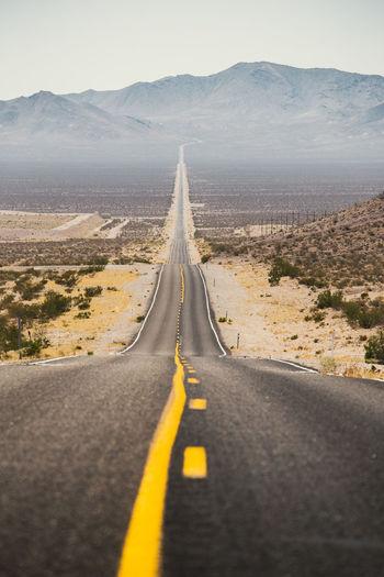 Road passing through a desert