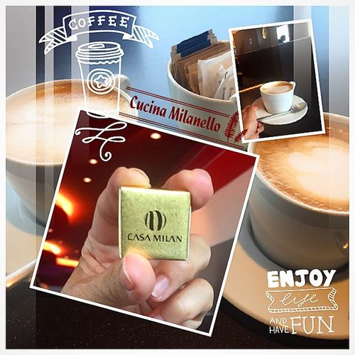 Coffee Time Enjoying Coffee Relaxing Casa Milan Enjoying Cappuccino Taking Photos My Collage